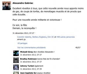 Excellent réveillon à tous, que cette... - Alexandre Gabriac